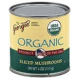 Giorgio Mushrooms, Sliced, Organic 4.0 OZ(Pack of 6)