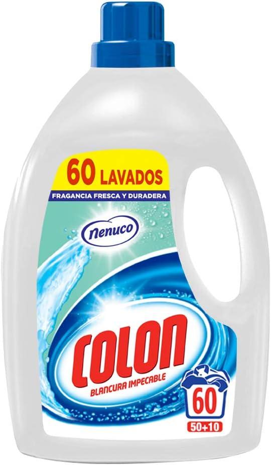 Colon Detergente Nenuco para la ropa Hipoalergénico en formato líquido - 60 lavados