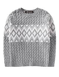 MFrannie Boys Chevron Plaid Cable Knit Warm Autumn Pullover Sweater