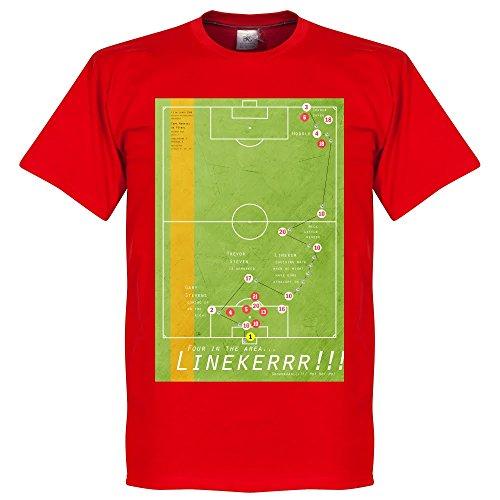 Pennarello Gary lineaker 1986Classic Goal maglietta–rosso