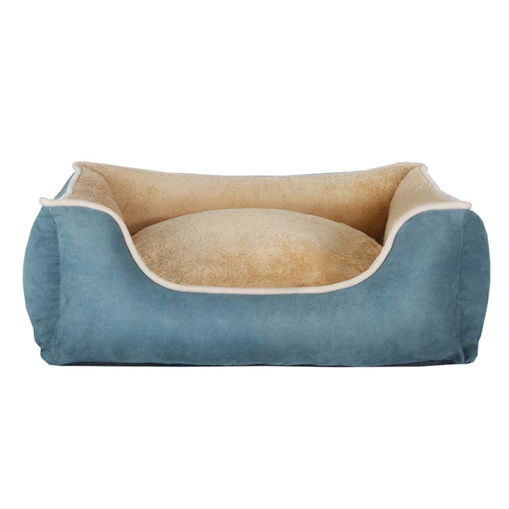 bluee XXL bluee XXL Ryan Pet Nest, Dog Beds And Cushions Kennel Pet Nest Cat Pad Waterproof colorful Classic And pillow (color   bluee, Size   XXL)