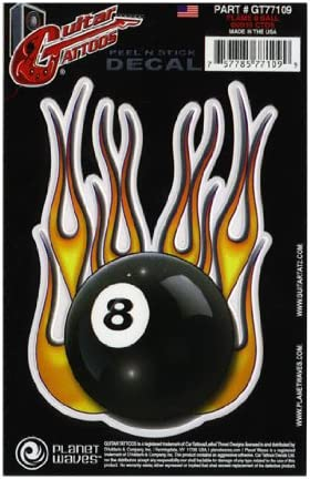 Planet Waves GT77109 Flame 8 Ball - Adhesivo decorativo para ...