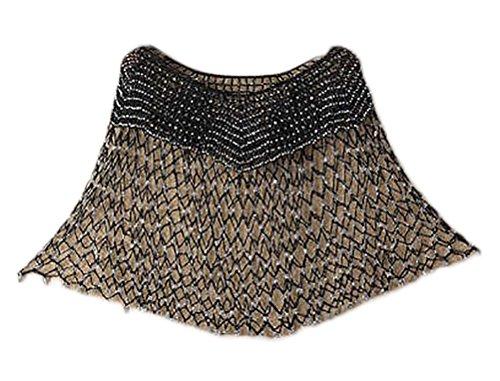 Elegante Vintage Brown Poncho Fiori Sciolto Mantello Moda Estate Crochet Donna Casual Mantellina Grazioso Mantella con Hollow Sottile Top Tassels 5qUnx4EFnH
