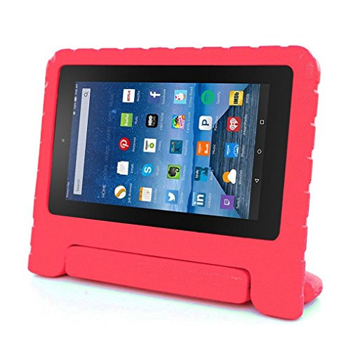 Price comparison product image AutumnFall Kids Shock Proof EVA Handle Case Cover for Amazon Kindle Fire HD 7 2015 (Red)