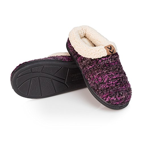 Price comparison product image Pupeez Girls Knitted Slippers; A Cozy Warm Fleece Lined Sweater Style Kids House Shoe