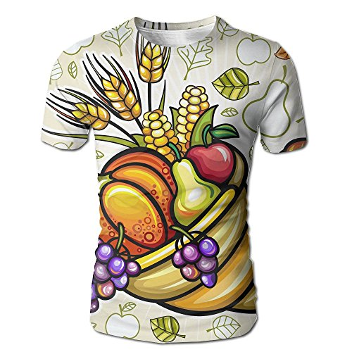 Wild Beast Male Graphic Fashion Harvest Cornucopia Short O-Neck Tee M (Cornucopia Story)