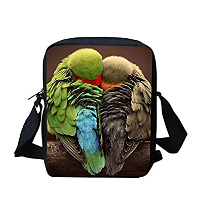 de3041ac4e durable service Cool Parrot Custom Messenger Bag for School Boy Kids  Satchel Bag for Travel