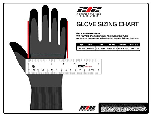 212 Performance Gloves AXDG-16-009 AX360 Dotted Grip Nitrile-dipped Work Glove, 12-Pair Bulk Pack, Medium by 213 Performance Gloves (Image #4)