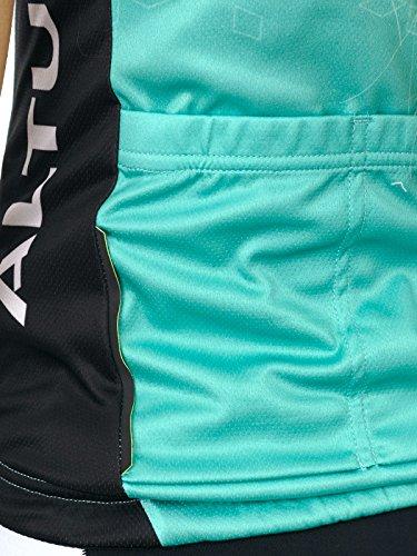 corte a Maglia Aqua maniche donna da Blue nera Team Altura Peloton nera BwqqOI6Ex