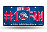 NBA Detroit Pistons #1 Fan Metal Tag License Plate