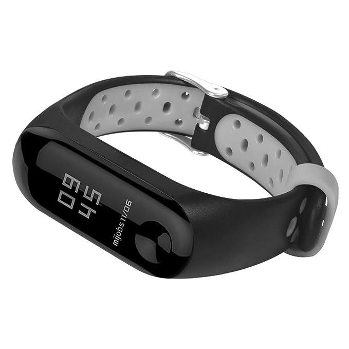 LANSKIRT Reemplazo Ventilar Correa Reloj Deportivo Soft para la muñeca Pulsera Accesorios para Relojes Extensibles Pulsera para Xiaomi Mi Band 3: Amazon.es: ...