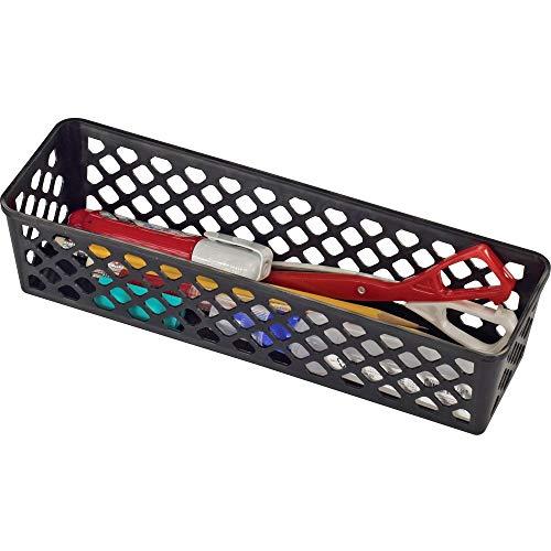 Officemate International Corp. 26200 Supply Basket, Stackable, Long, 3/PK, Black - Officemate International Corp Supply