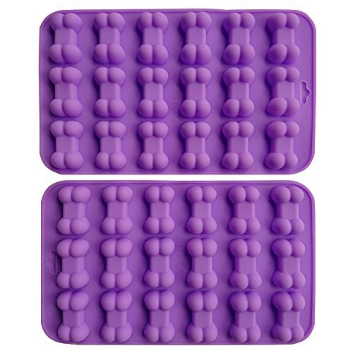 Bone Shape (Axe Sickle (2 per pack) Silicone Baking Molds Cake Chocolate Candy Pans Dog Treats Food Grade Bones Silicone Mold,Mini Bone Shape Silicone Ice Cube Trays,Soap Mold,Silicone Bone Pet Cookies Molds.)