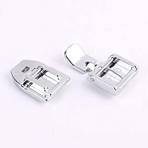 Pack of 1pcs Zipper Foot and 1pcs Invisible Zipper Foot for All Low Shank Snap-On Singer, Brother, Babylock, Janome, Kenmore, Juki, New Home, Elna