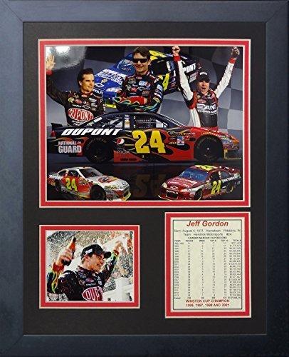 """Legenden Sterben Nie """"Jeff Gordon"""" gerahmtes Foto Collage, 11 x 35,6 cm von Legends Never Die"""