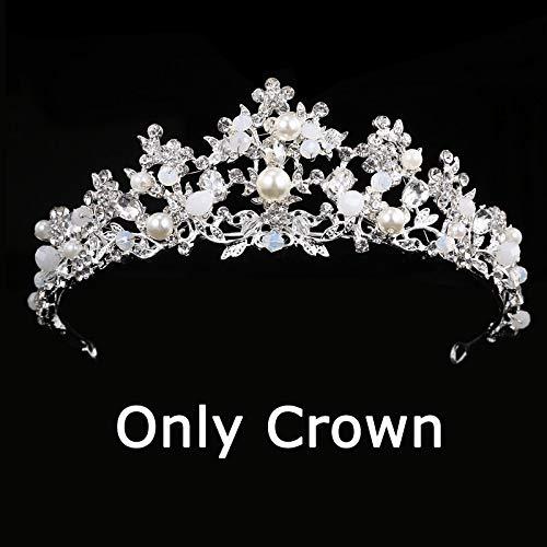 Bridal Crown Flower Bride Hair Jewelry Crystal Tiara