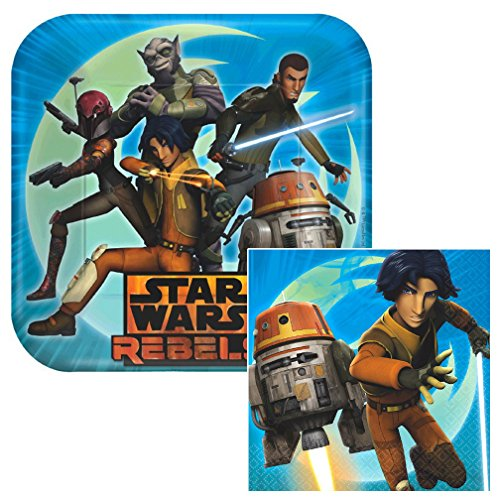 Star Wars Rebels Lunch Napkins & Plates Party Kit for 8 by Amscan