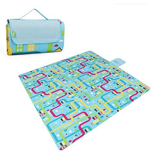 (JTYX Picnic Blanket Waterproof Folding Outdoor Multi-Purpose Camping Dinner Park Grass Beach Mat Baby Crawling Mat)