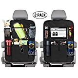 KNGUVTH Backseat Car Organizer Kick Mats, Car Seat Back Protectors with Clear 10