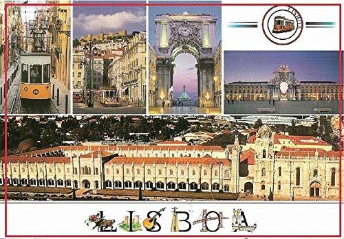 DishyKooker 78543mm Old Postcard,Portugal Lisbon Metal Wrapped Souvenir Fridge Magnets 20342 Rigid Plate Tourist Memories Show