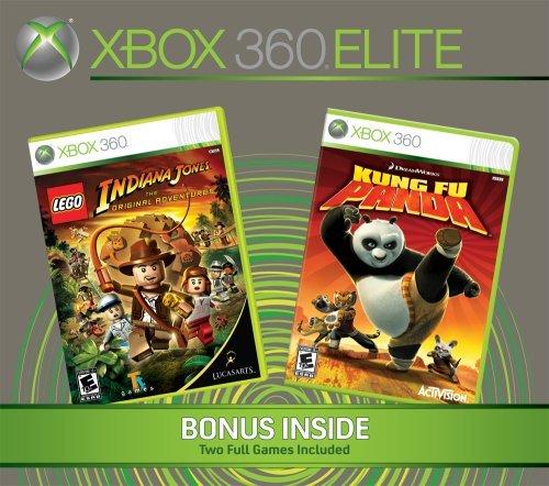 Xbox 360 Elite Console 120GB with 2 Bonus Games (Renewed)