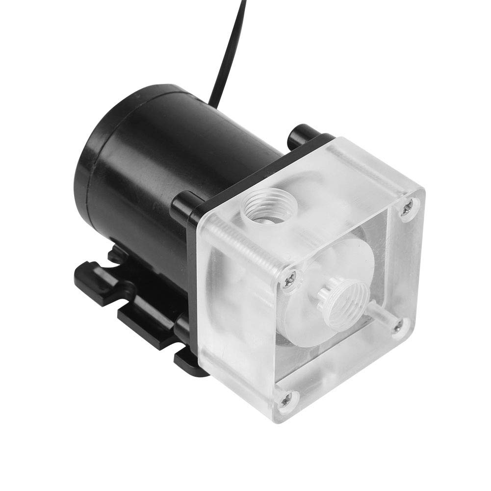 CPU Water Cooling Pump,DC 12V 10W Low Noise CPU Cooling Water Pump for Desktop Computer Cool System,500L/H - G1/4 Thread