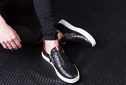 los de Color Casuales Gran 38 Zapatos Negro pies de Inferior Verano los Tamaño Tamaño Zapatos Cubren Hombres Suave Perezosos Zapatos Transpirables Tablero de EAqnHd54w