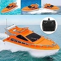 XuBa Orange Mini RC Boote Kunststoff Elektrische Fernbedienung Speed Boot Kinder Kinder Kinder Kinder Spielzeug 26 x 7,5 x 9 cm