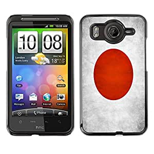 Shell-Star ( National Flag Series-Japan ) Fundas Cover Cubre Hard Case Cover para HTC Desire HD / Inspire 4G