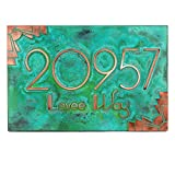 Deco Styling Address Plaque - 12x8 - Raised Copper Verdi Coated Sign