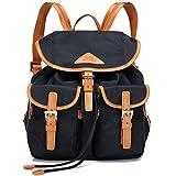 Ali Victory Women's Anti-Theft Water Resistant Nylon Backpacks (Black 3)