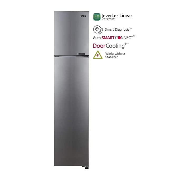 LG 360 L 4 Star Inverter Frost-Free Double Door Refrigerator (R402JPZN,  Shiny Steel)