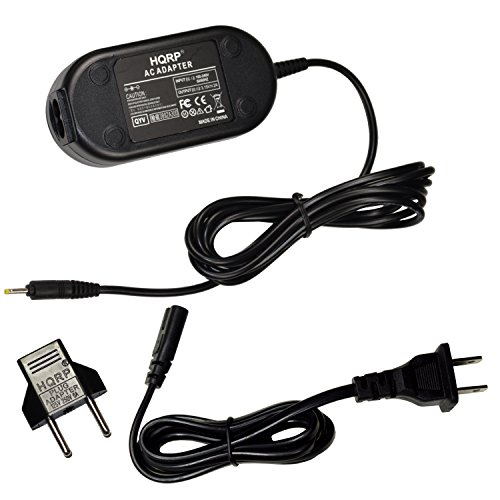HQRP AC Power Adapter for Canon PowerShot SX110 is, SX 110, SX110IS, SX100 is, SX 100, SX100IS Digital Photo Camera Plus Euro Plug Adapter