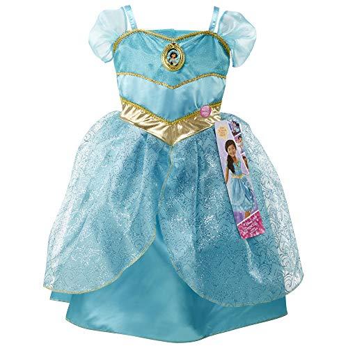 Disney Princess Jasmine Dress Costume, Sing & Shimmer Musical Sparkling Dress, Sing-A-Long to