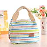 Woman Lady Oxford Waterproof Lunch Tote Bag Travel Cooler Insulated Handbag Zipper Storage Container