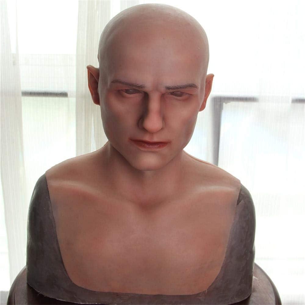 LPVIE Masque Masculin r/éaliste de Latex Costume de Costume de Masque de Camouflage du Masque Masculin,Brown Cagoule Adulte de Simulation pour Le Parti de Halloween