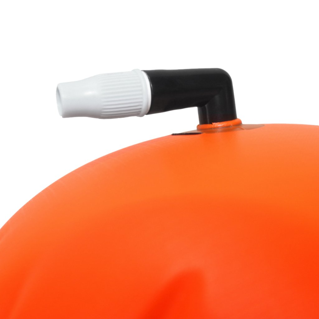Homyl 2Pcs High Visibility Swim Bubble Buoy Swimming Tow Float for Open Water Swimmers Fluo Yellow,Orange Kayakers and Triathletes