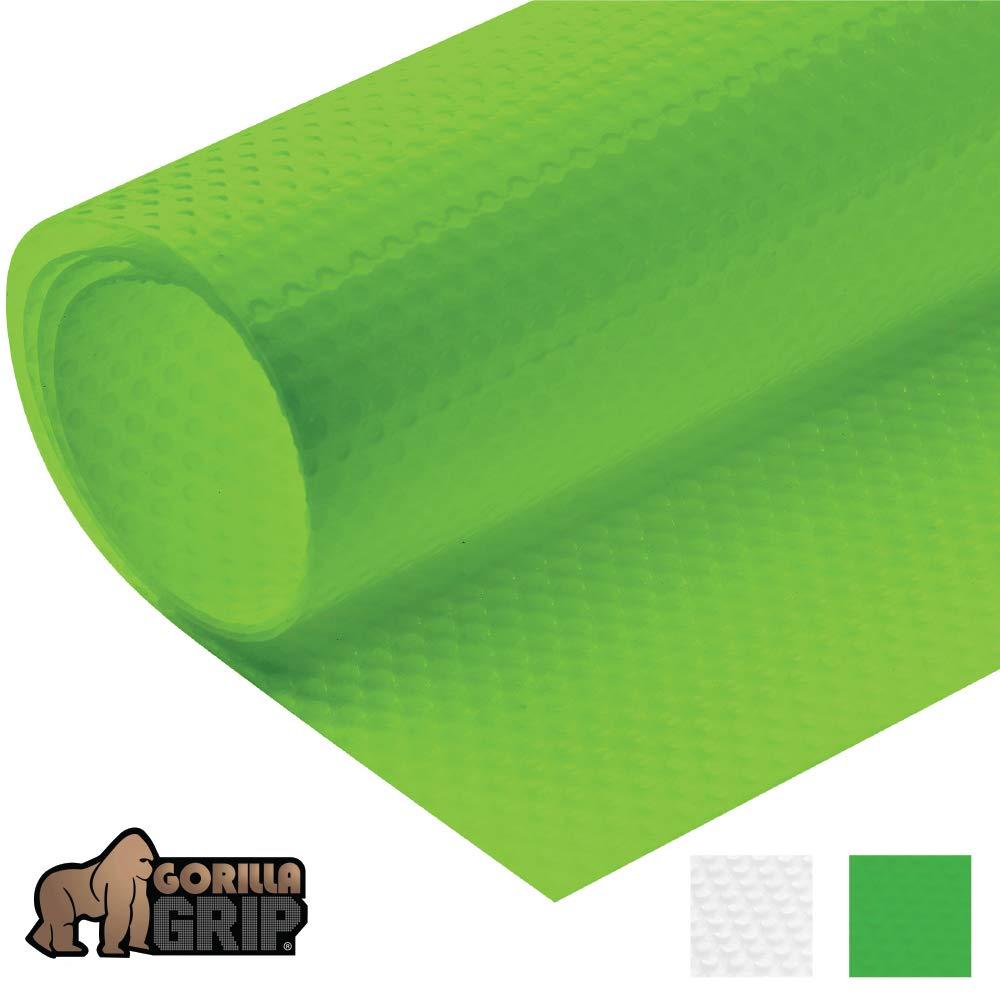 Gorilla Grip Premium Antibacterial Refrigerator Shelf Liner, Non Adhesive Roll, 60 Inch x 13 Inches, Durable Fridge Liner Mats, Kitchen Fridge Mat Pad for Fruit and Vegetable Drawers, Fridges, Green