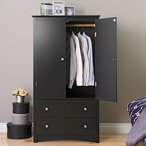 Best Review Of Black Sonoma 2 Door Armoire