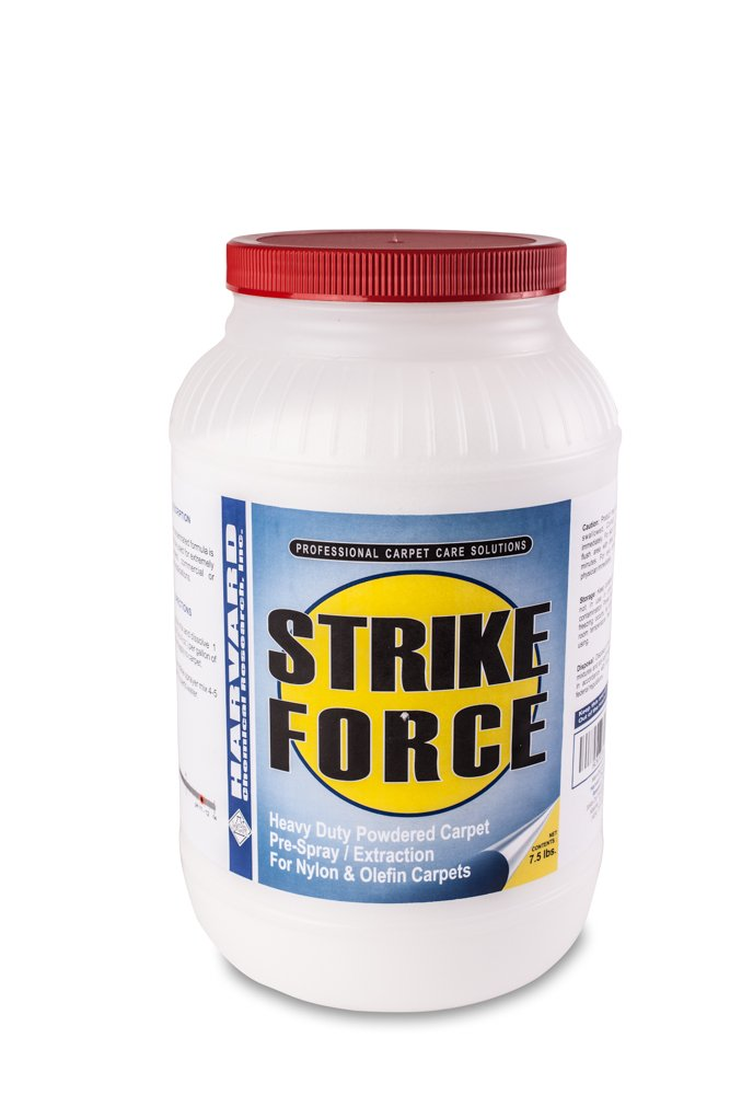 Harvard Chemical 7021 Strike Force Industrial Super Strength Carpet pH Detergent, Low Odor, 7.5 lbs Jar, White (Case of 4)