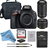 Nikon D5600 DSLR Camera Retail Packaging Bundle (18-55mm + 70-300mm)