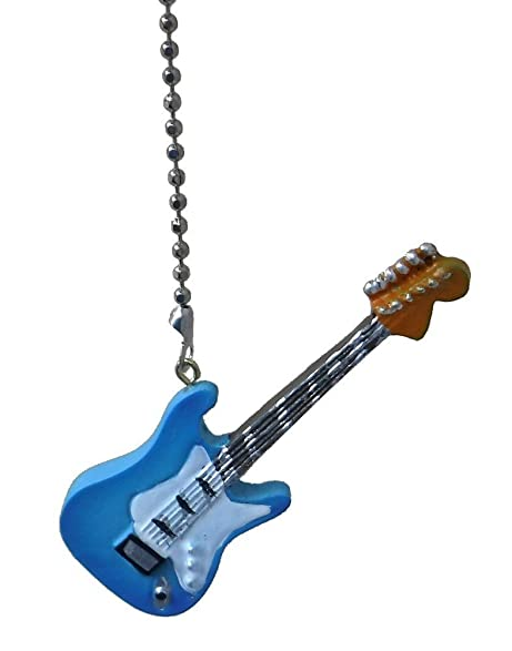 Electric guitar ceiling fan pull light chain extender ornament electric guitar ceiling fan pull light chain extender ornament light blue mozeypictures Choice Image