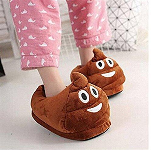 Emoji Lalang pour Hommes Pantoufles Chaussons EU B 35 Peluche Femmes d'hiver 44 qZZwH1I