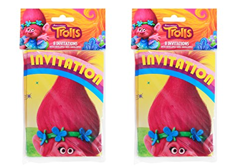 Trolls Party Pack ~ 16 CT Invitations