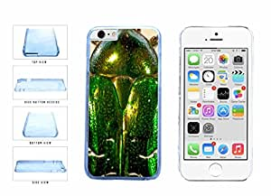 Bright Green Beetle Wings Clear Plastic Phone Case Back Cover Apple iPhone 6 (4.7 inches screen) comes with Security Tag and MyPhone Designs(TM) Cleaning Cloth