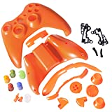 Xbox 360 Controller Shell - Replacement Buttons Thumbsticks Custom Cover Case Kit for Xbox 360 Wireless Controller - Orange