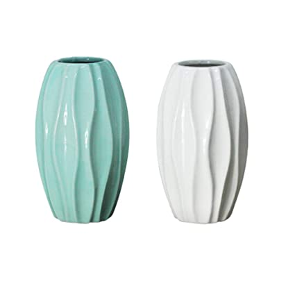 Amazon Com Vosarea 2pcs Ceramic Vases Decorative Decorative Vases