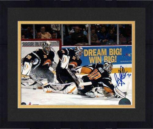 Framed Ryan Miller Multi Exposure Signed 8x10 Photo - Steiner Sports Certified - Autographed NHL Photos