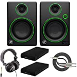 Mackie CR4 4' Multimedia Monitor with Studio Headphones, Knox Gear Isolation Pads and Breakout Cable