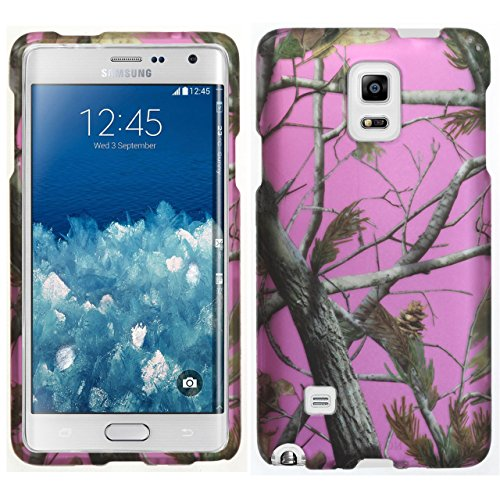 Samsung Galaxy Note 4 Case, Note 4 Cover, DURARMOR® TrendzArmor [Lifetime Warranty] Camo Pink Real Tree Camouflage Slim Hard Case Protector Cover